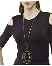 Arme De L'Amour | Metallic Medallion Necklace / Sale | Lyst