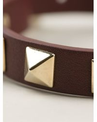 Valentino - Brown Rockstud Bracelet - Lyst