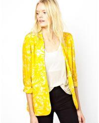 American Vintage - Yellow Printed Blazer - Lyst