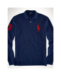 Polo Ralph Lauren | Blue Custom-fit Big Pony Polo for Men | Lyst