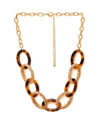 Forever 21 - Metallic Mixed Media Chain-link Necklace - Lyst