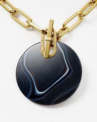 """Michael Kors - Black Statement Pendant Necklace, 18"""" - Lyst"""