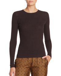 Michael Kors | Brown Featherweight Ribbed Cashmere Sweater | Lyst