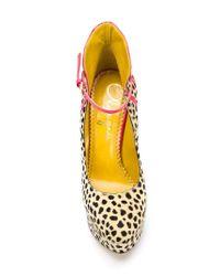 Charlotte Olympia Brown Cheetah-Print Pumps