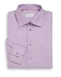 Eton of Sweden | Purple Slim-Fit Hairline Striped Cotton Dress Shirt for Men | Lyst