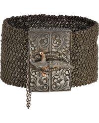 Sevan Biçakci - Metallic Sevan Biçakçi Mesh Bracelet With Dagger Closure-Colorless - Lyst