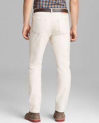 Shipley & Halmos - Jeans Bull Slim Fit in Natural for Men - Lyst