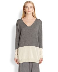 The Row | Tammy Colorblock Sweater | Lyst