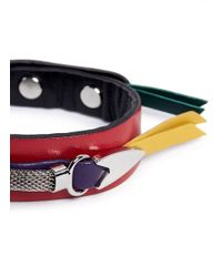 Toga | Multicolor Colourblock Leather Bracelet | Lyst