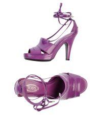 Tod's - Purple Sandals - Lyst