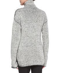 Theory - Gray Tessalee Fine Haven Sweater - Lyst