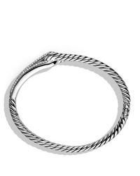 David Yurman | Metallic Labyrinth Single-loop Bracelet With Diamonds | Lyst