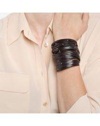 Linea Pelle | Black Double Wrap Bracelet | Lyst