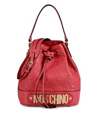 Moschino - Red Medium Leather Bag - Lyst