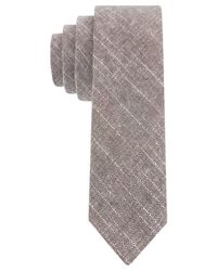 Calvin Klein | Brown Solid Vintage Skinny Tie for Men | Lyst