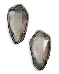 Kendra Scott | Multicolor 'camryn' Mother-of-pearl Stud Earrings | Lyst