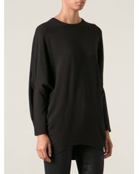 Helmut Lang - Black Villous Fleece Top - Lyst