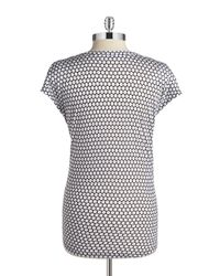 MICHAEL Michael Kors | Black Petite Honeycomb Dot Top | Lyst