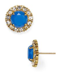 Kate Spade | Blue Secret Garden Stud Earrings | Lyst