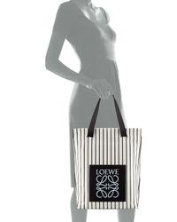 Loewe - Black North-South Shopper Bag - Lyst