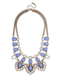 BaubleBar | Blue Crystal Feather Bib | Lyst