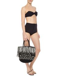 Lisa Marie Fernandez - Black Poppy Textured High-waisted Bikini - Lyst
