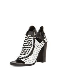 Proenza Schouler - White Woven Open Toe Leather Heels - Lyst