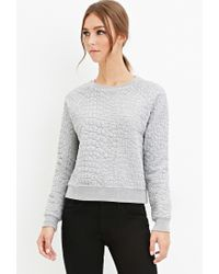 Forever 21 - Gray Pebble-textured Pullover - Lyst