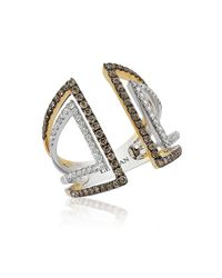 Le Vian | Metallic Chocolatier Vanilla And Chocolate Diamond, 14k White And Yellow Gold Ring | Lyst