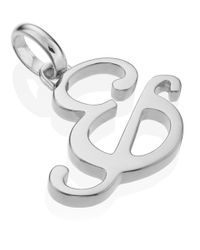 Monica Vinader | Metallic Silver Alphabet Pendant & | Lyst