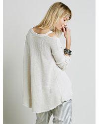 Free People | Natural Moonshine V-neck Pullover | Lyst