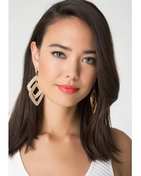 Bebe | Metallic Interlocked Earrings | Lyst