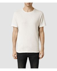 AllSaints | White Biedra Crew T-shirt for Men | Lyst