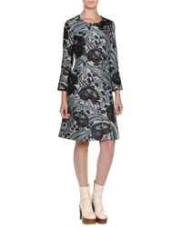 Marni - Black Bracelet-sleeve Floral-print Dress - Lyst