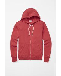 Rag & Bone | Red Standard Issue Zip Hoodie for Men | Lyst