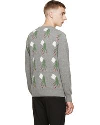 Undercover | Gray Grey Patterned Back Panel Sweater for Men | Lyst