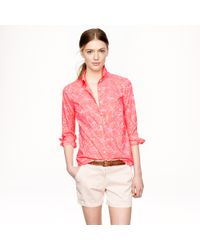J.Crew | Pink Boy Shirt In Tropical Floral | Lyst