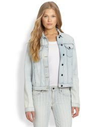 Genetic Denim | Natural Mia Distresed Denim Jacket | Lyst