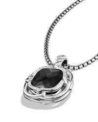 David Yurman | Metallic Labyrinth Medium Pendant With Black Onyx | Lyst