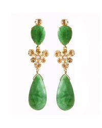 Bounkit | Green Chrysoprase Earrings | Lyst