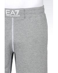 EA7 | Gray Cotton Shorts for Men | Lyst