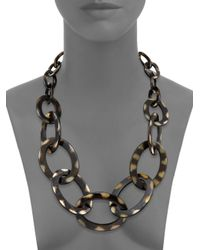 Nest - Black Graduated Spotted Horn Link Necklace - Lyst