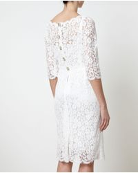 Dolce & Gabbana | White Daisy Lace Embellished Dress | Lyst