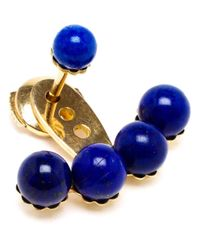 Yvonne Léon | Blue 18Kt Yellow Gold And Lapis Lazuli Lobe Earring | Lyst