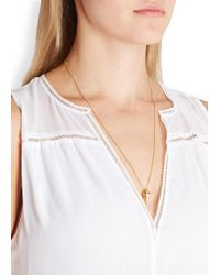 Vita Fede | Metallic Mini Hex Crystal Necklace - Gold | Lyst