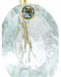 Marie-hélène De Taillac - Blue Quartz, Aquamarine & Yellow-Gold Earrings - Lyst
