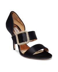 Badgley Mischka | Black Tila Evening Sandals | Lyst