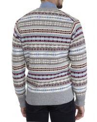 Jules B - Multicolor Cashmere Fair Isle Sweater for Men - Lyst