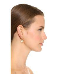 Aurelie Bidermann - Metallic Gold Earrings With Pink Sapphire - Gold - Lyst