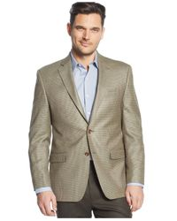 Lauren by Ralph Lauren - Green Tan Houndstooth Sport Coat for Men - Lyst